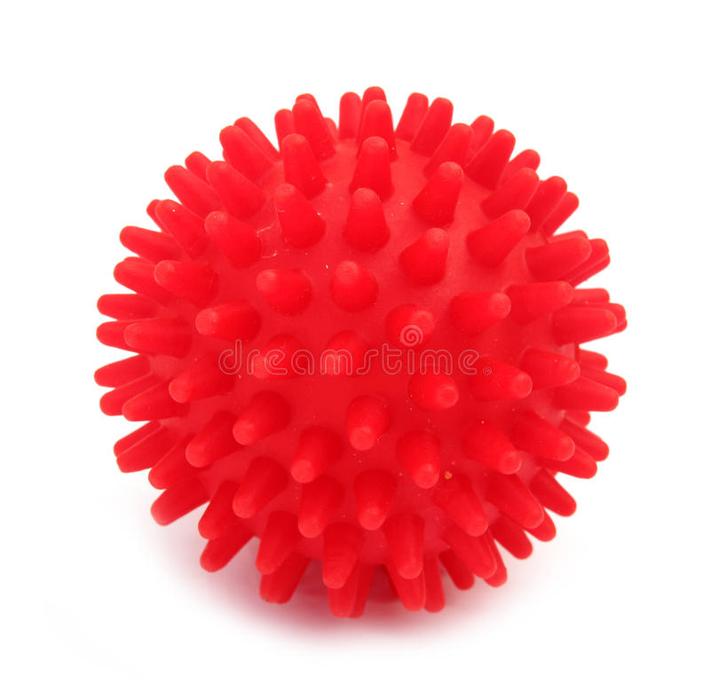 Free Ball Toy Red With Pins Stock Images - 13599364