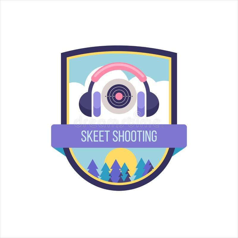 Ball-trap de tir Logo de vecteur du club de sport illustration de vecteur