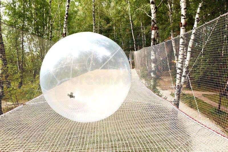 Ball und Netz Park des Sportunterhaltungs-Sommers im im Freien stockbild