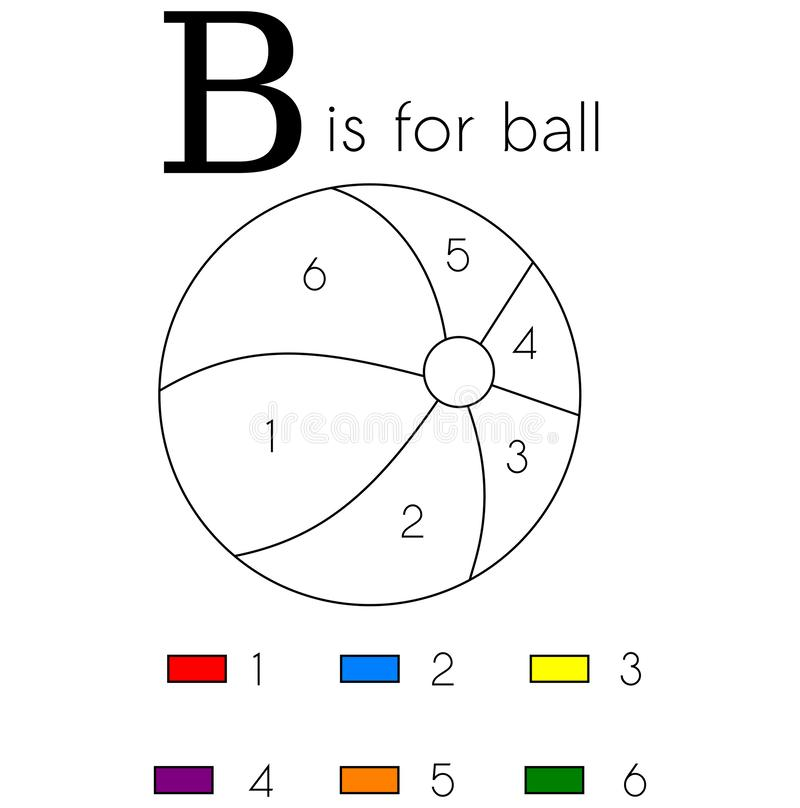 Ball. Vector Alphabet Letter B, Coloring Page Stock Image ...