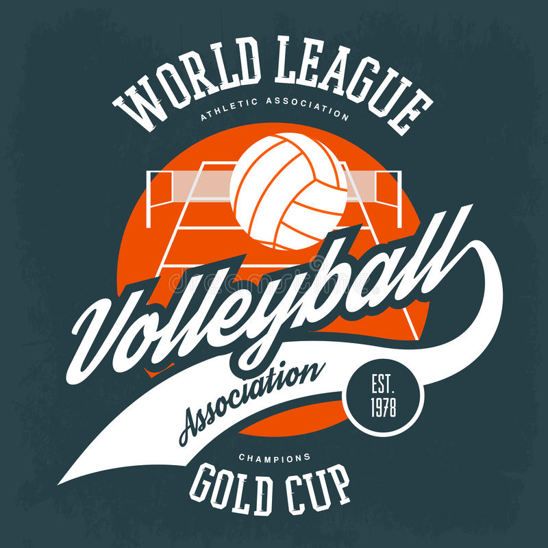 Ball for volleyball in front of field with net royalty free illustration