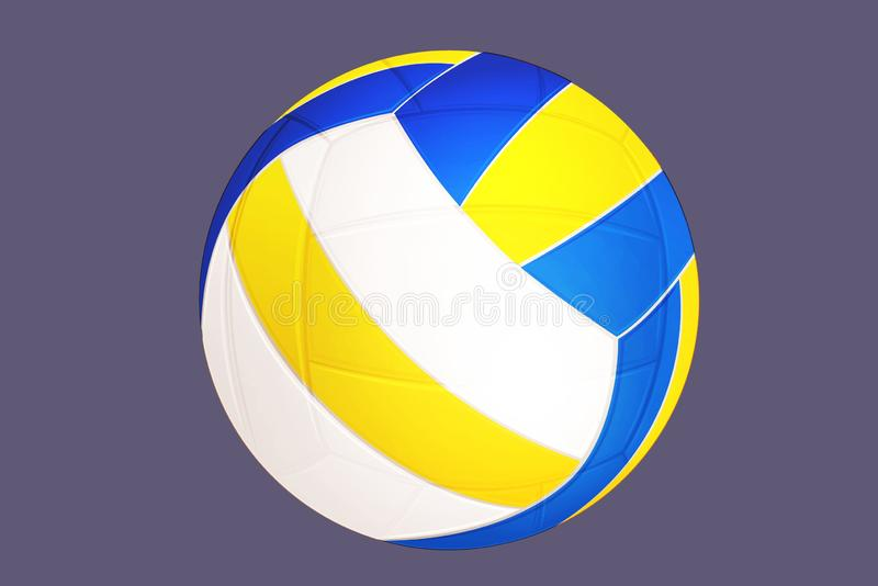 The ball of volleyball on gray background. Illustration design royalty free stock images