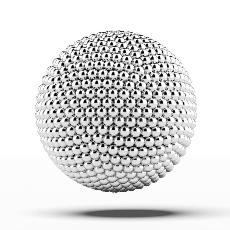 Ball von Metallbereichen stock abbildung