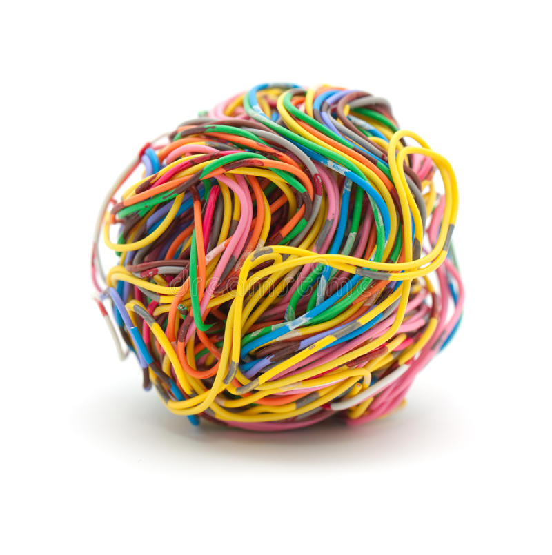 Download Ball of wire stock photo. Image of yellow, colour, pair - 12438378