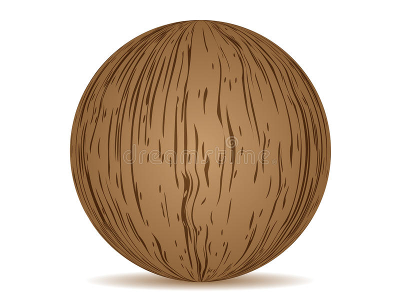 Download Ball wooden texture stock vector. Illustration of construction - 10235797