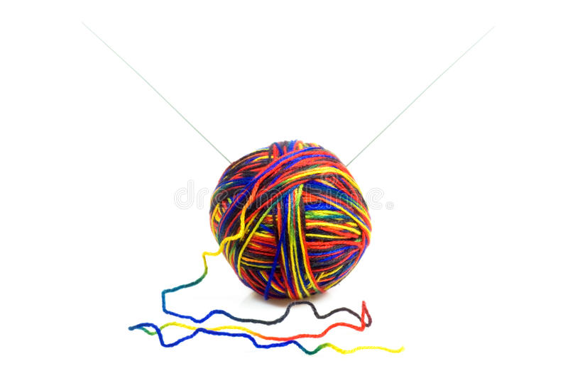 Download Ball of wool stock photo. Image of ball, needles, white - 14127226