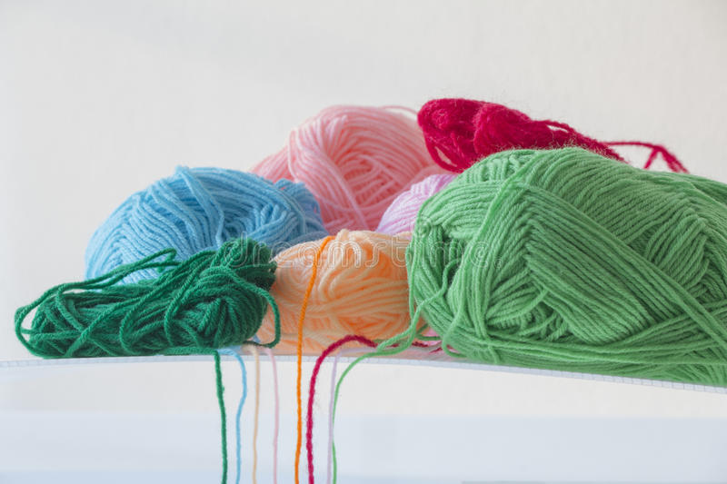 Ball of yarn. On white background stock photos