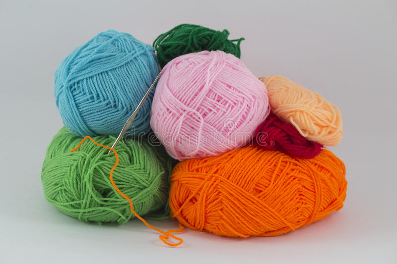 Ball of yarn. On white background royalty free stock images