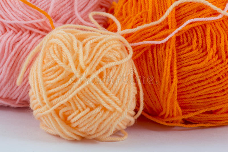 Ball of yarn. On white background stock photography