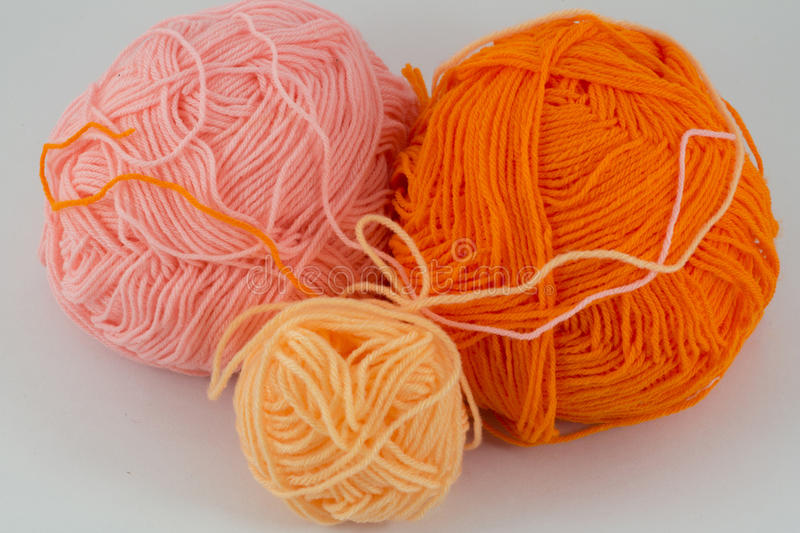 Ball of yarn. On white background royalty free stock photo