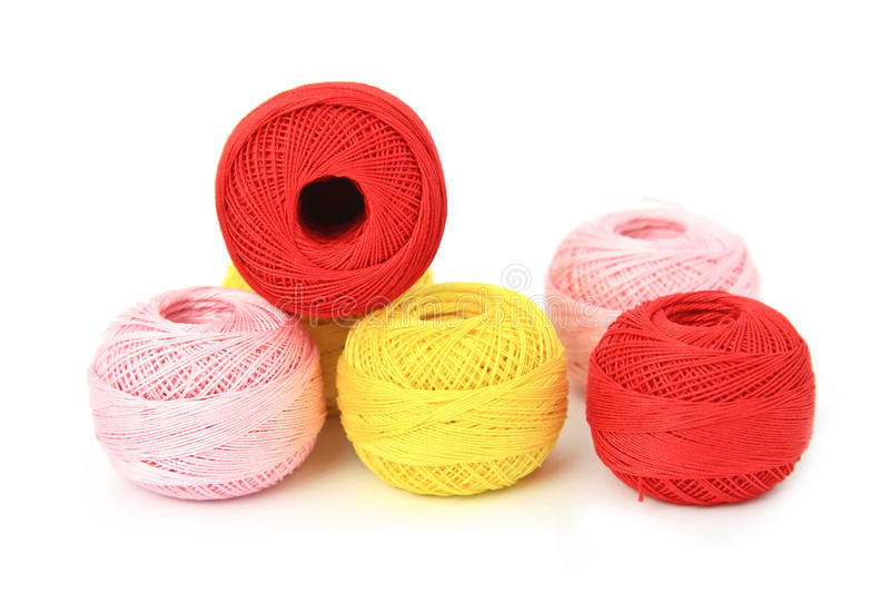 Ball of yarn. Ball of yarn on white background royalty free stock image