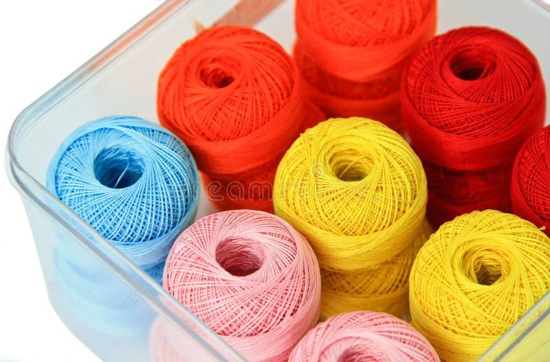 Ball of yarn. Ball of yarn on white background stock image