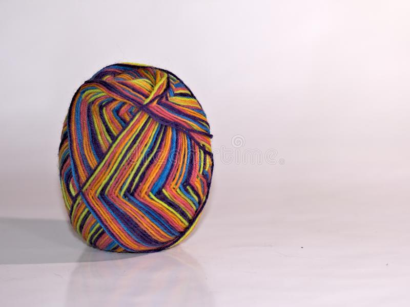 Wool yarn shaped like a egg stock images