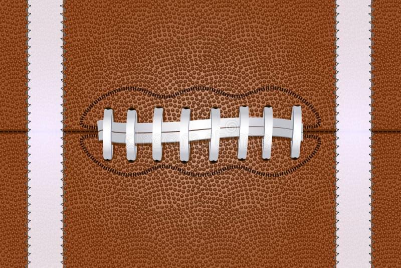 Ballabschluß des amerikanischen Fußballs herauf Hintergrund Auch im corel abgehobenen Betrag stock abbildung