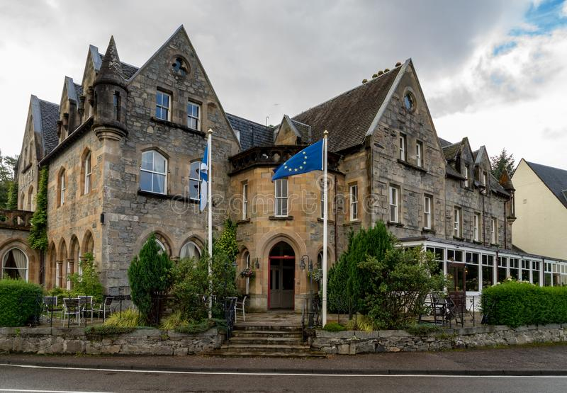 Ballachulish hotel. In scottish haighlands on a cludy day royalty free stock photos