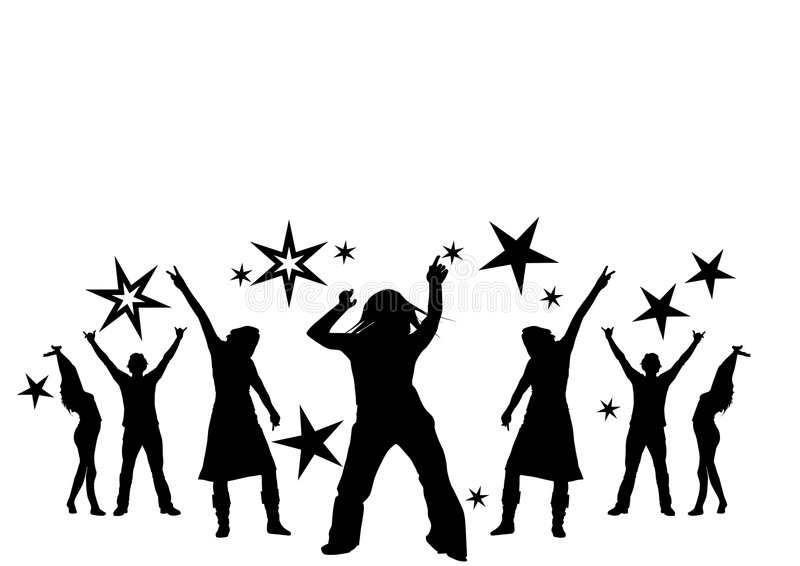 Ballando ad un partito royalty illustrazione gratis