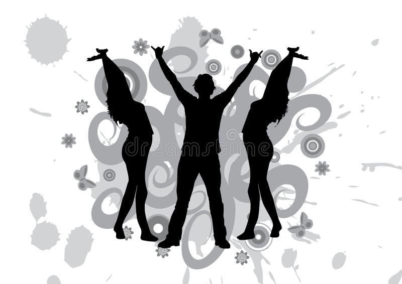Ballando ad un partito illustrazione di stock