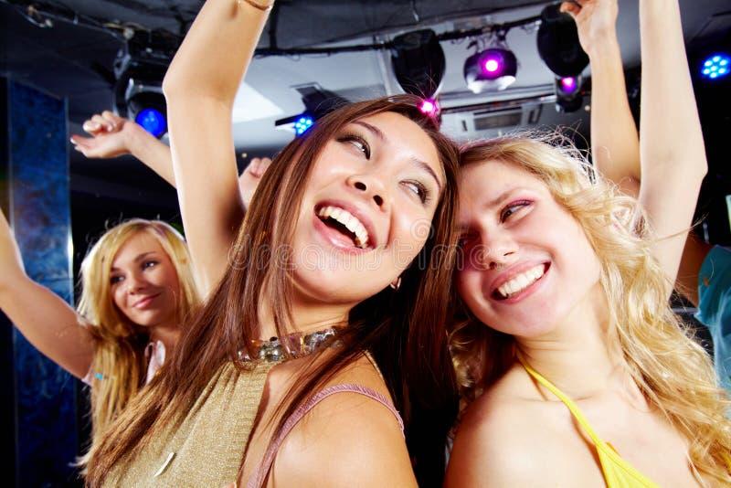 Ballando al partito fotografie stock