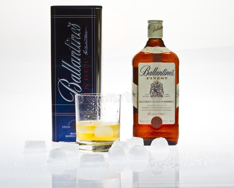 ballantine s威士忌酒 免版税库存照片