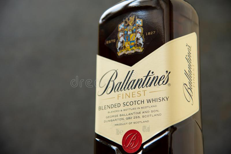 Ballantines whisky produkuj?cy Pernod Ricard w Dumbarton, Szkocja obraz stock