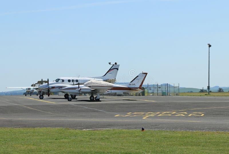 Ballarat-Flughafen wurde im Jahre 1934 formalisiert, obgleich Versuchstraining zuerst angeboten wurde auf, was dann das Ballarat- stockfoto