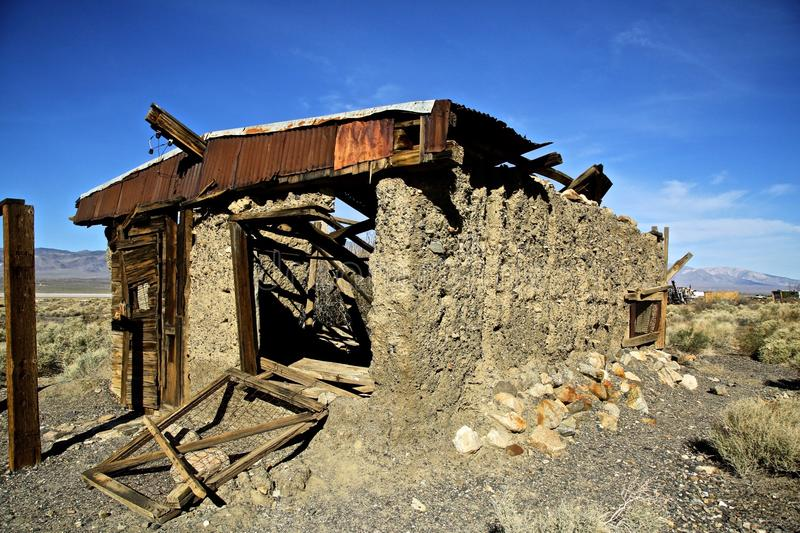 Ballarat spökstad Death Valley Kalifornien royaltyfri bild
