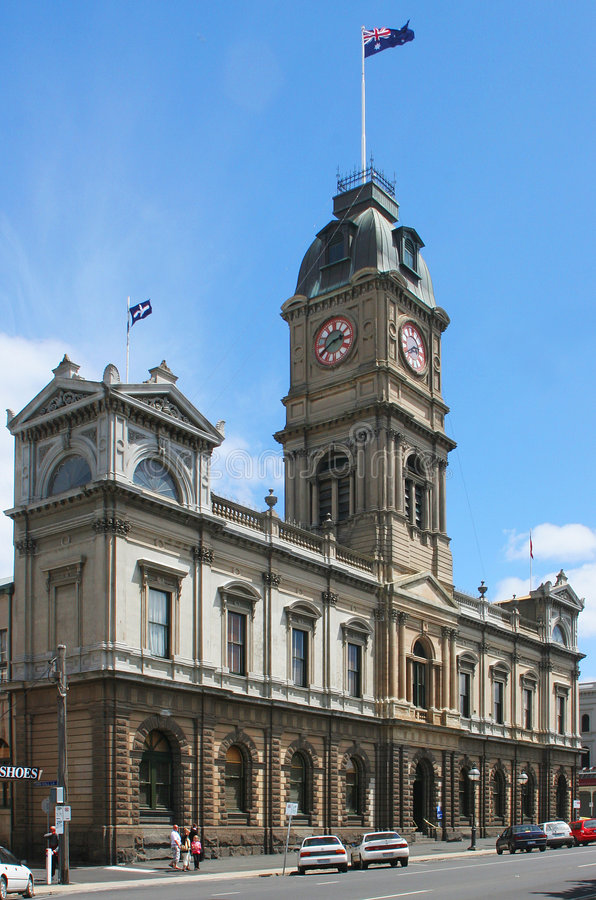 Ballarat Town Hall, Australia stock photo