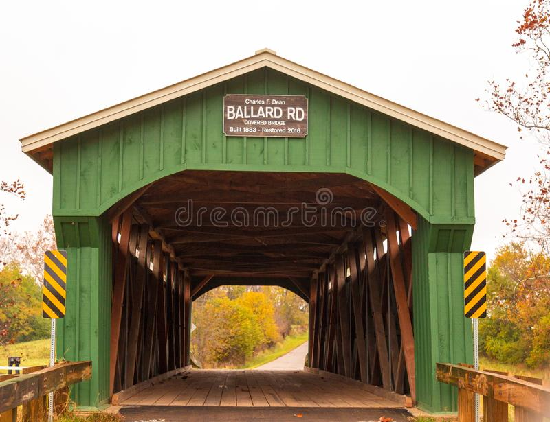 Ballard Covered Bridge Jamestown Ohio foto de stock royalty free