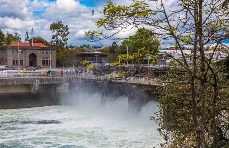 Ballard Locks em Seattle fotografia de stock