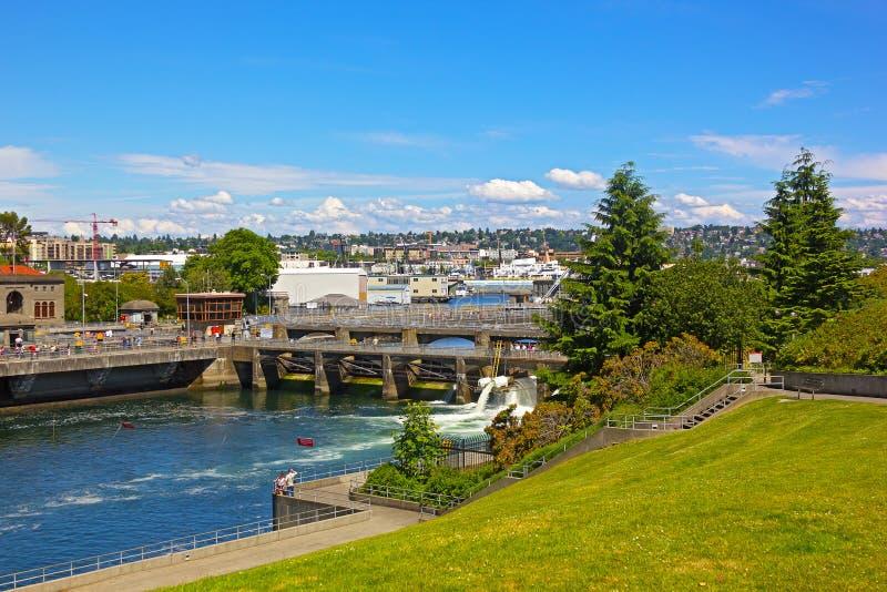 Ballard Locks in Seattle stock foto