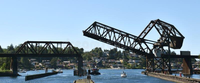 Ballard Ship Locks, Seattle, WA images libres de droits