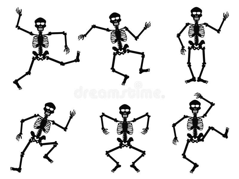 Ballare degli scheletri royalty illustrazione gratis