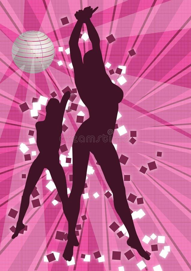 ballare delle 2 ragazze fotografia stock libera da diritti