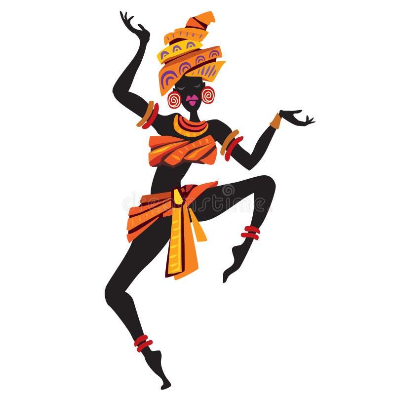 Ballare delle donne di afro illustrazione di stock