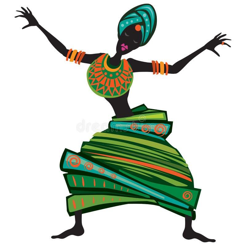 Ballare delle donne di afro royalty illustrazione gratis