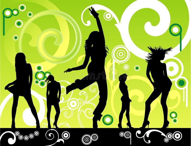 Ballare floreale delle donne royalty illustrazione gratis