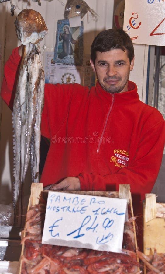Ballaro, Palerme vendant le poulpe géant