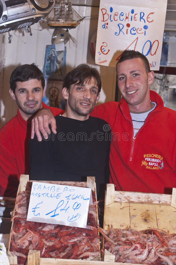 Ballaro Palermo som säljer räkan