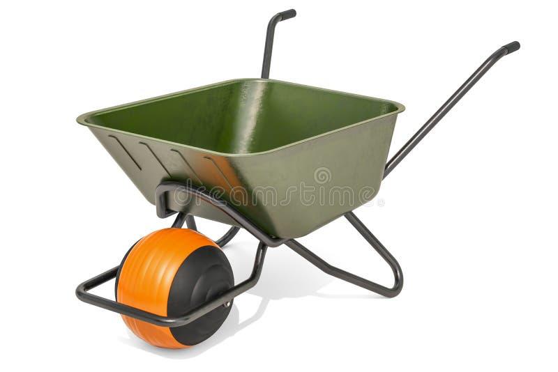 Ballbarrow, σύγχρονο wheelbarrow τρισδιάστατη απόδοση ελεύθερη απεικόνιση δικαιώματος