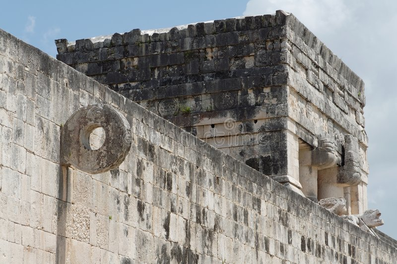 ballcourt chichen itza obraz stock