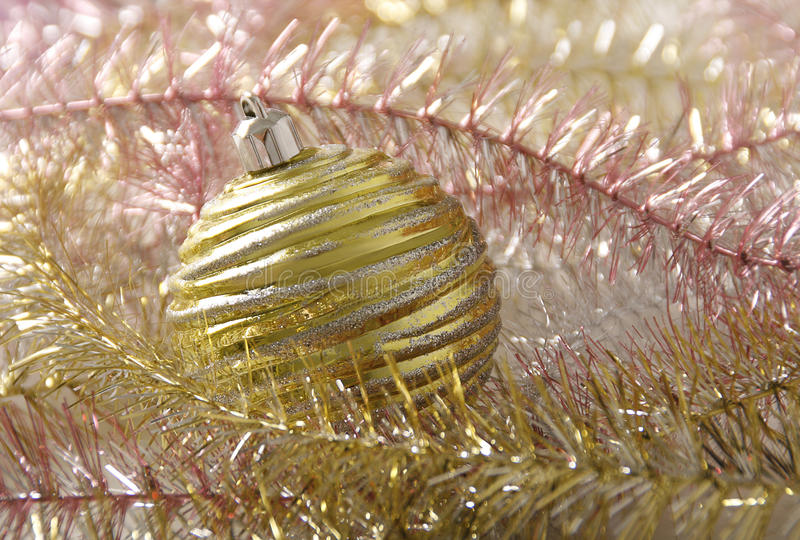 Balldekor des Weihnachtsneuen Jahres lizenzfreies stockfoto