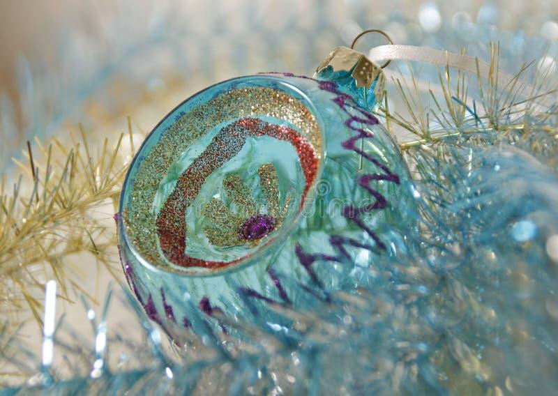 Balldekor des Weihnachtsneuen Jahres stockfotos