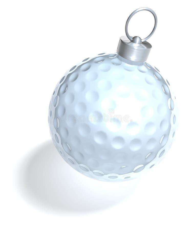 Balle de golf de boule d'arbre de Noël illustration libre de droits