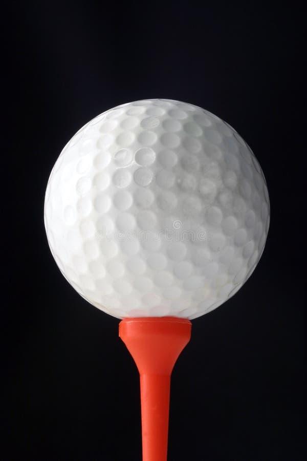 Balle De Golf Et Té Photographie stock