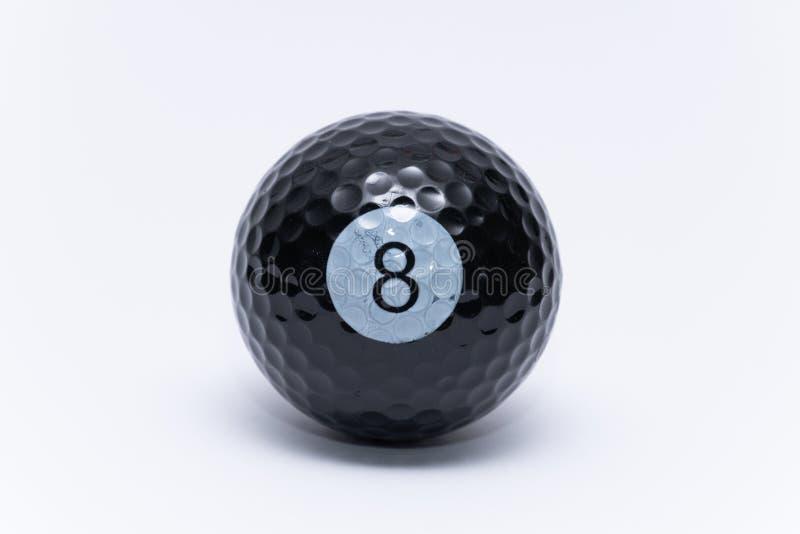 Balle de golf peinte comme une boule de golf de boule de billards de billard conçue image stock