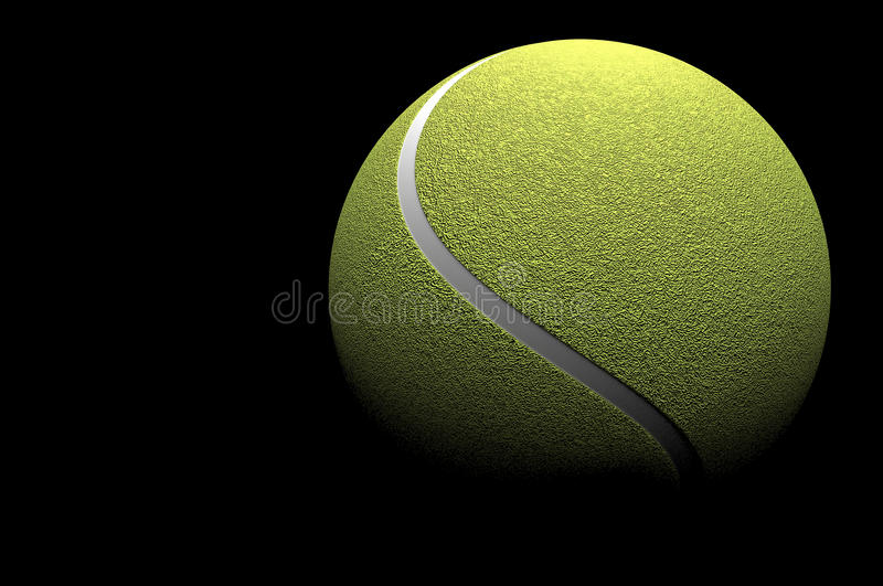 balle de tennis 3d d'isolement photo libre de droits