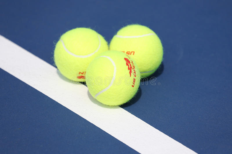 Balle de tennis de Wilson d'US Open chez Billie Jean King National Tennis Center à New York images libres de droits