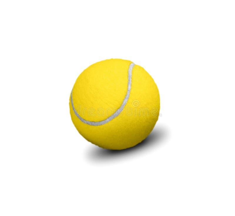 Balle de tennis jaune d'isolement sur le blanc photographie stock