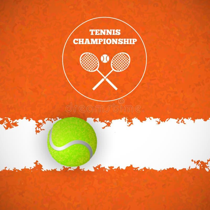 Balle de tennis sur la cour Vecteur illustration de vecteur