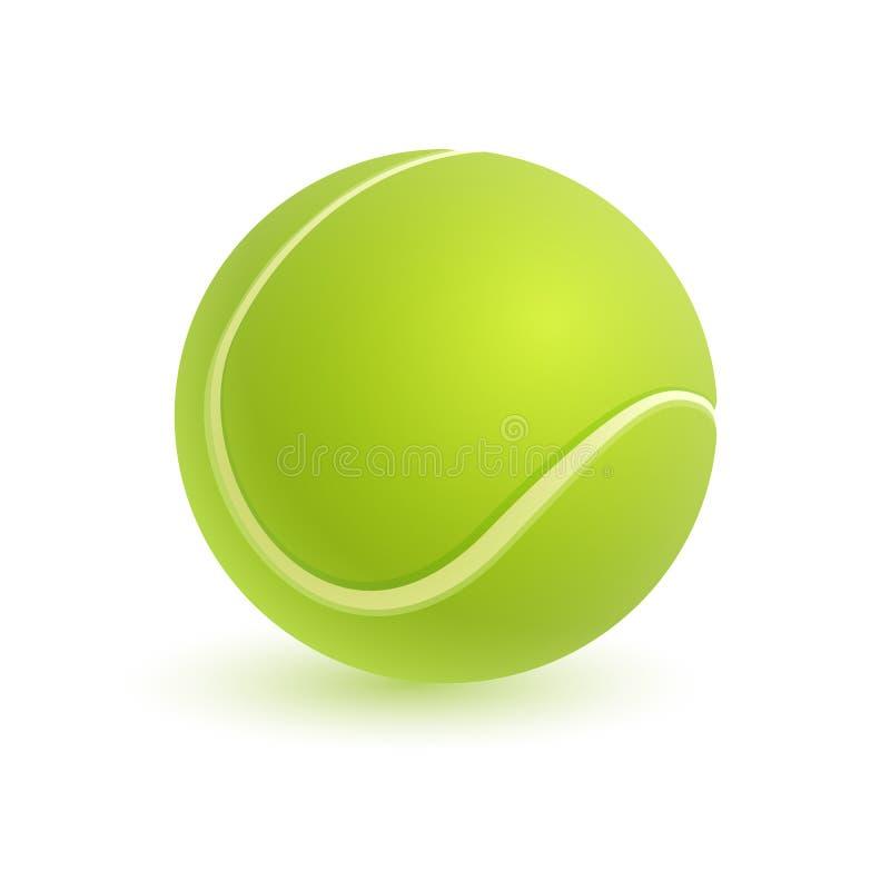 Balle de tennis sur le blanc illustration de vecteur